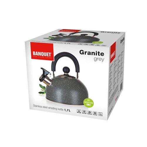Banquet Konvice nerezová GRANITE Grey 1,7 l - rozbaleno