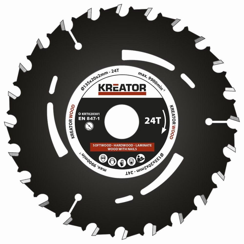 Kreator KRT020301 - Pilový kotouč pro ponorné pily 135mm, 24T