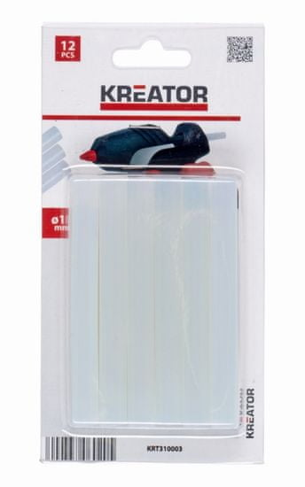 Kreator KRT310003 - Tavné tyčinky 11mm 12ks