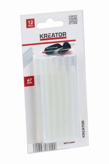 Kreator KRT310001 - Tavné tyčinky 7mm 12ks