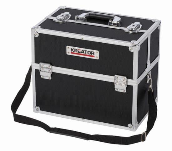 Kreator KRT640301B - Hliníkový kufr 360x230x300mm černý