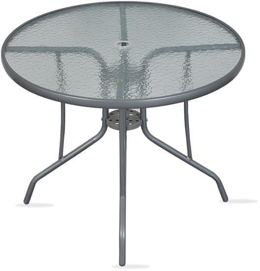 Linder Exclusiv Stolik szklany ogrodowy DIA MC90 71x90 cm
