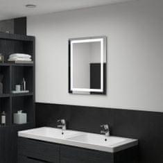 shumee Ścienne lustro łazienkowe z LED i czujnikiem dotyku, 50x60 cm