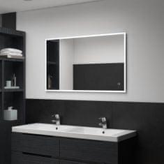 shumee Kúpeľňové LED nástenné zrkadlo s dotykovým snímačom 100x60 cm