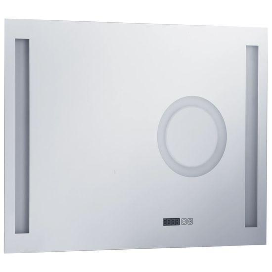 shumee Lustro łazienkowe z LED i czujnikiem dotykowym, 80x60 cm