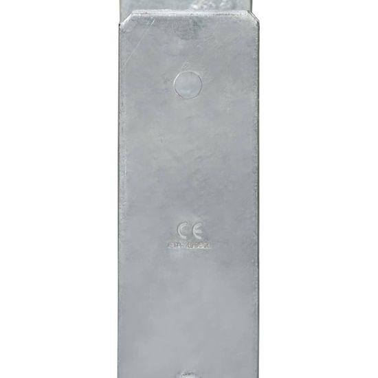 shumee Ograjna sidra 2 kosa srebrna 9x6x60 cm pocinkano jeklo