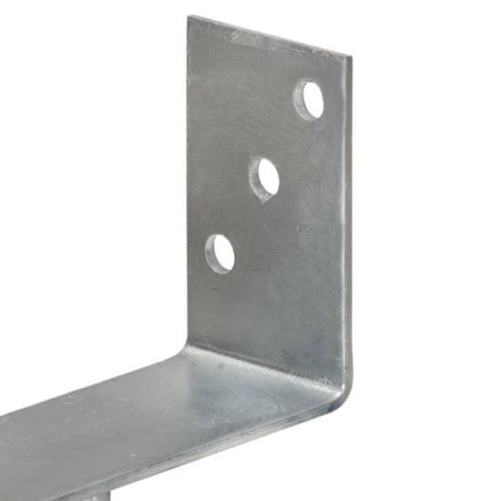shumee Kotviace pätky 2 ks, strieborné 7x6x30 cm, pozinkovaná oceľ