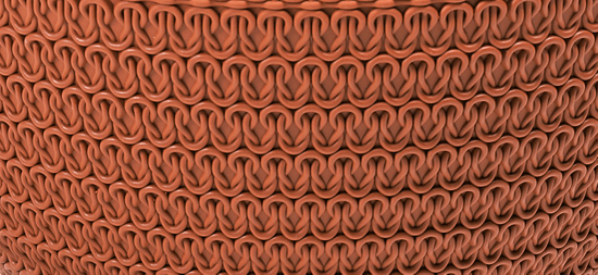 Lamela závěsná žardinka JERSEY Ø 30 cm, terakota