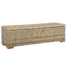 shumee Úložný box 120 cm kubu ratan a masívne mangovníkové drevo