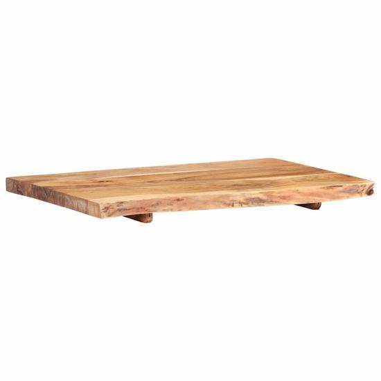 shumee tömör akácfa fürdőszoba piperepolc 80 x 55 x 3,8 cm