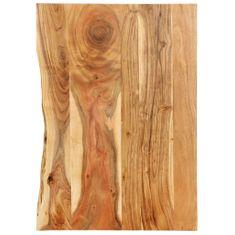 shumee Doska na kúpeľňovú skrinku masívne akáciové drevo 80x55x2,5 cm
