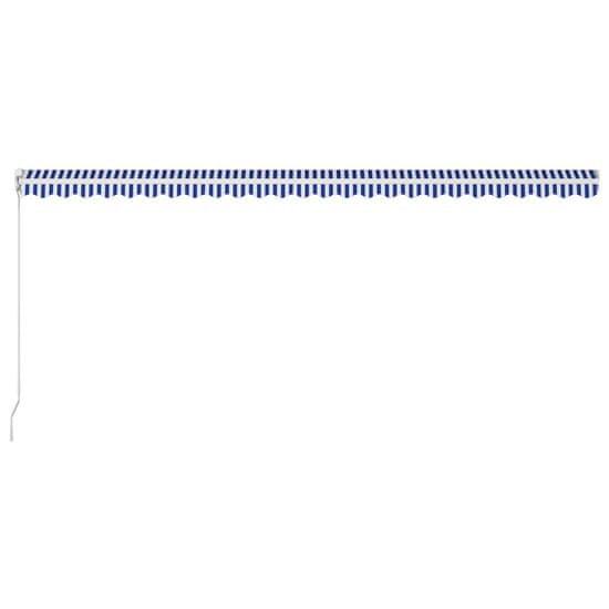 shumee Ročno zložljiva tenda 600x300 cm modra in bela