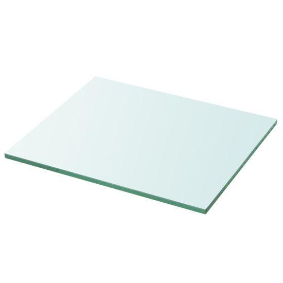 Greatstore Poličky 2 ks panel z priehľadného skla 30x20 cm