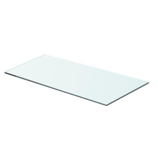 shumee 2 db átlátszó üveg paneles polc 60 x 25 cm