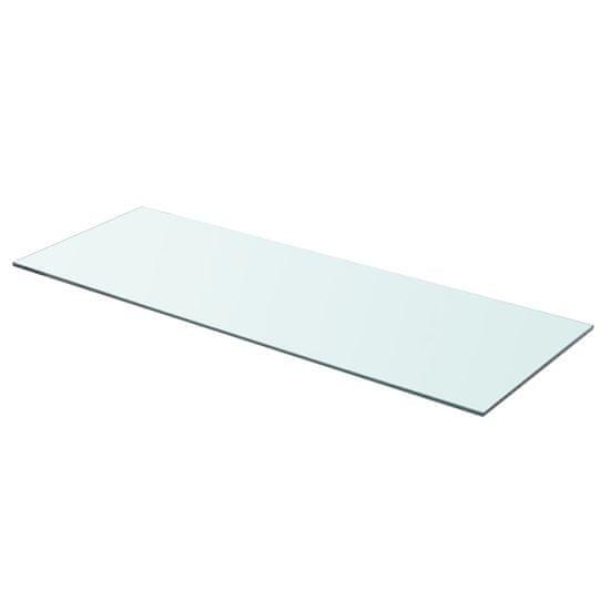 Greatstore Poličky 2 ks panel z priehľadného skla 80x30 cm