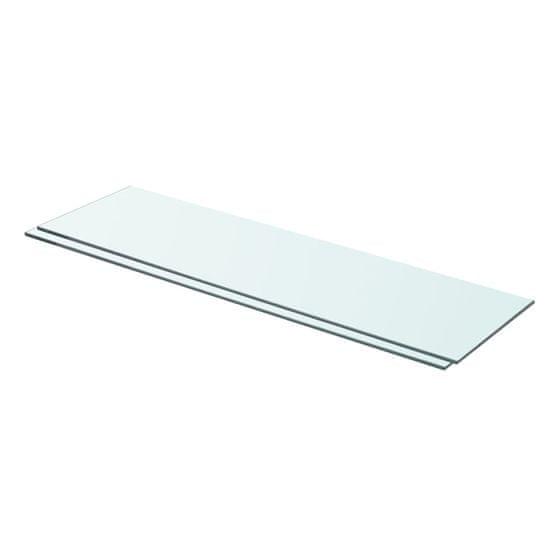 shumee 2 db átlátszó üveg paneles polc 70 x 20 cm