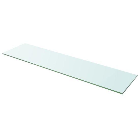 Greatstore Poličky 2 ks panel z priehľadného skla 100x25 cm