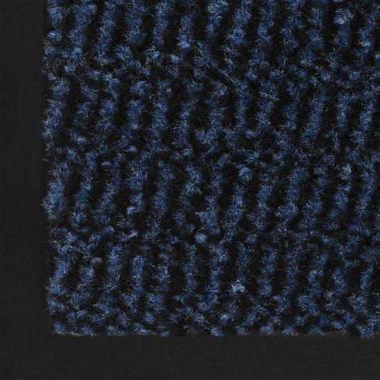 shumee 2 db kék négyszögletes bolyhos szennyfogó szőnyeg 40 x 60 cm