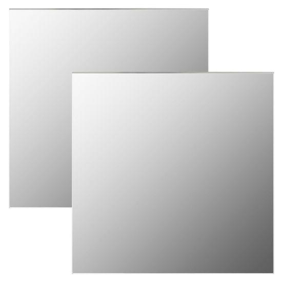 shumee 2 db négyzet alakú üveg falitükör 40 x 40 cm