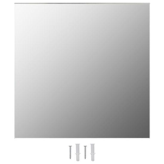 shumee stenska ogledala 2 kos kvadratnega stekla 50x50 cm