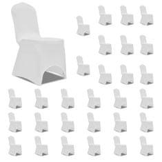 shumee Potahy na židle napínací bílé 30 ks