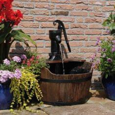 shumee Ubbink vrtni vodnjak z lesenim sodom