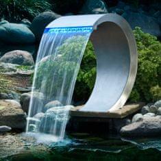 shumee Ubbink Mamba vodni slap za bazen nerjaveče jeklo z LED osvetlitvijo
