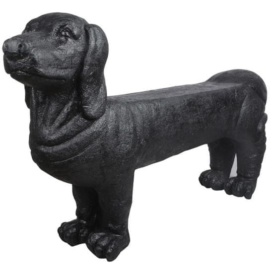 shumee Esschert Design Kamnita vrtna klop jazbečar črne barve AV12