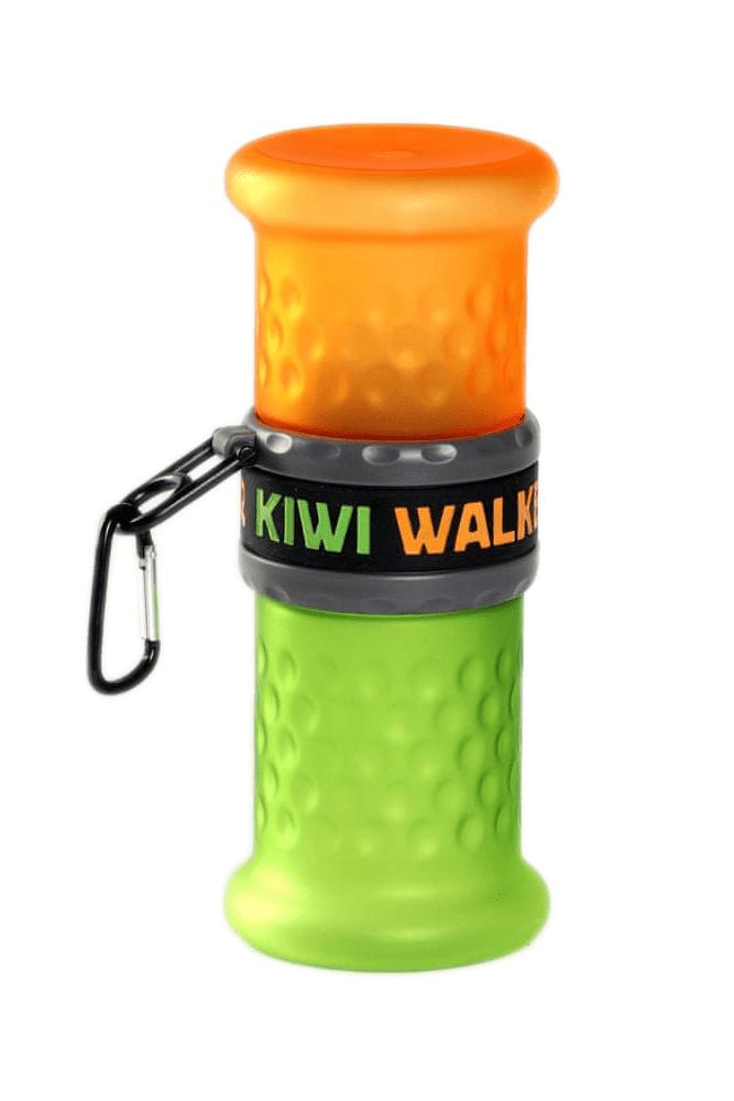 KIWI WALKER Cestovní láhev 2in1, oranžová/zelená