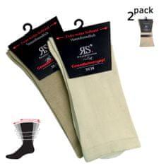 RS Dámské DIA bavlněné zdravotní rozšířené ponožky 11121 2-pack - 35-38