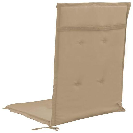 shumee Blazine za vrtne stole 2 kosa bež 120x50x3 cm