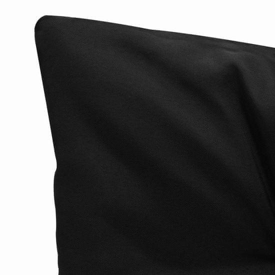 shumee 2 db fekete és szürke szövetpárna hintaágyhoz 50 cm