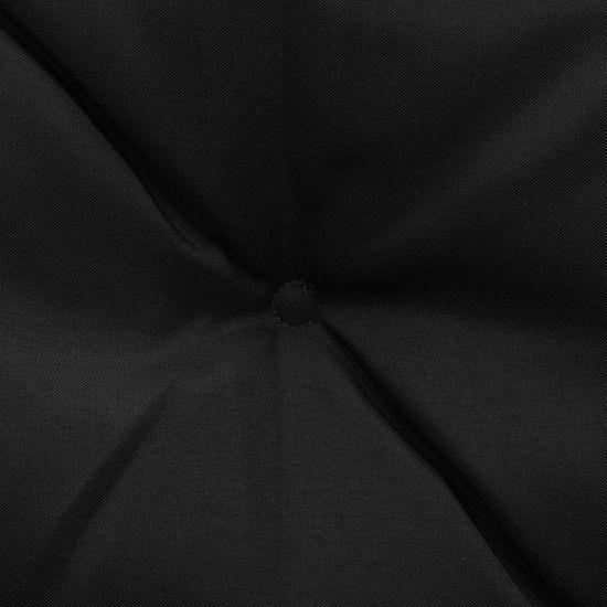 shumee Blazina za gugalni stol črna 180 cm blago