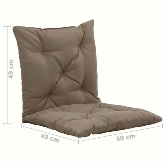 shumee Blazine za gugalni stol 2 kosa taupe 50 cm blago