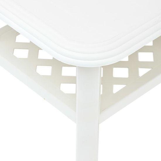 shumee Klubska mizica bela 90x60x46 cm plastika