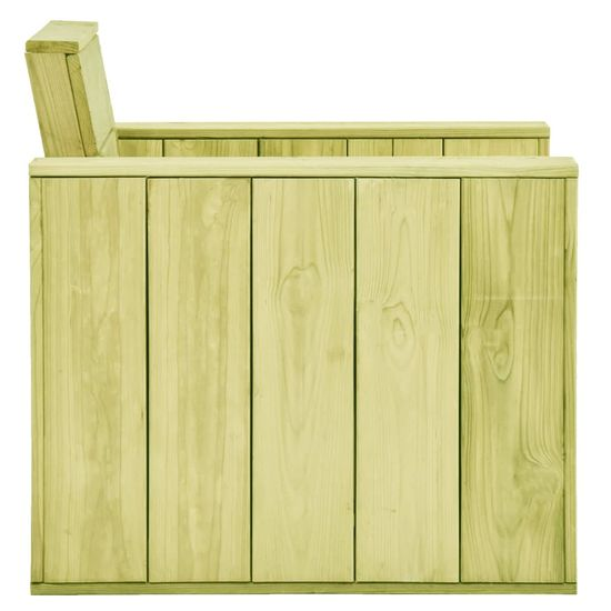 shumee Krzesło ogrodowe, 89x76x76 cm, impregnowane drewno sosnowe
