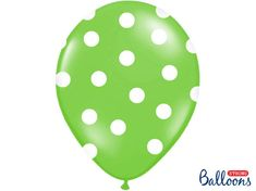 Paris Dekorace Balonky puntík Pastel Apple green/white