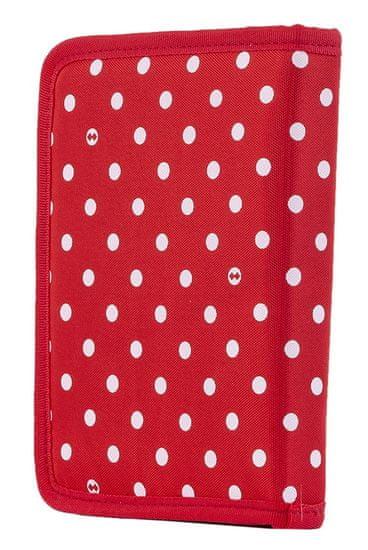 Pixie Crew kreativna peresnica, rdeča z belimi pikami