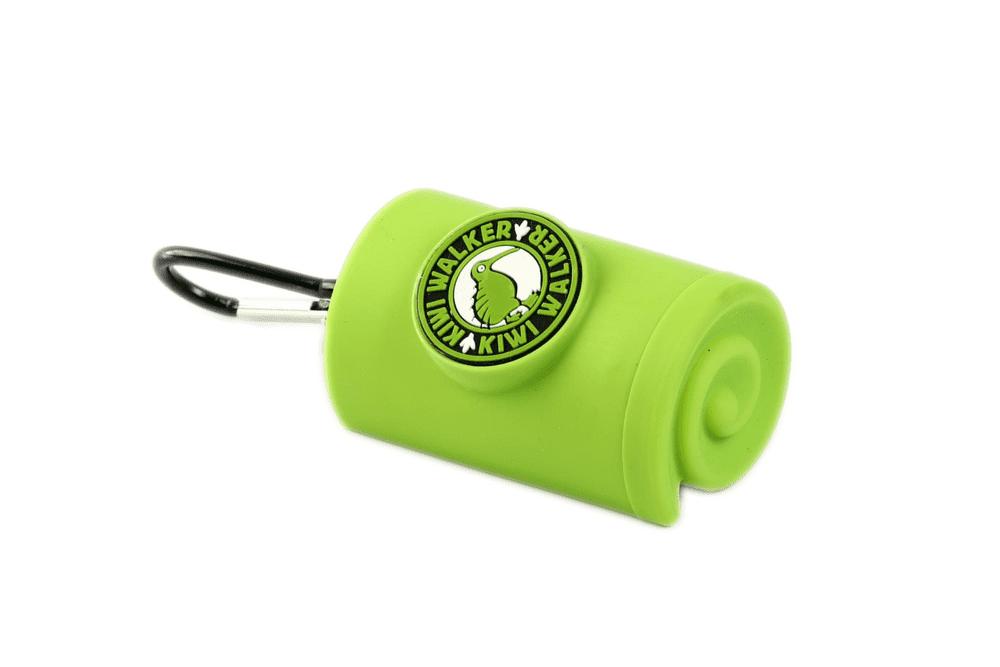 KIWI WALKER Obal s karabinou na sáčky, zelený