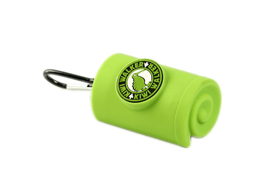 KIWI WALKER torbica za vrečke s karabinom, zelena