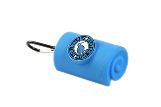 KIWI WALKER torbica za vrečke s karabinom, modra