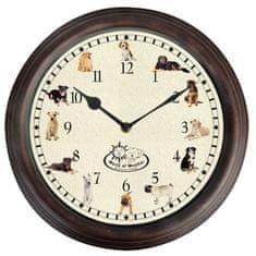Esschert Design hodiny se psími zvuky Ø 29