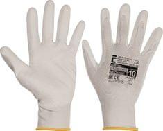 Cerva Pletené bezešvé máčené nylonové rukavice Bunting, mechanické - univezální 10/XL