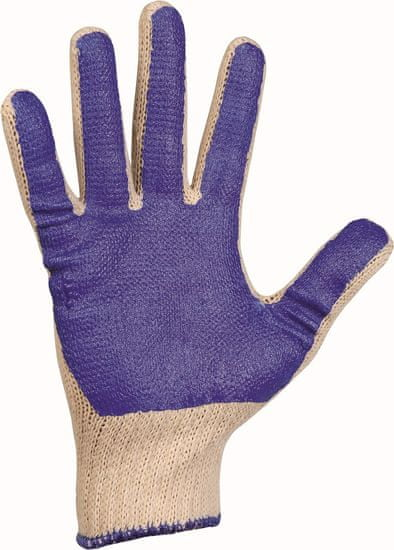 Cerva Pletené bavlna/PVC pracovní rukavice Scoter, mechanické - univezální