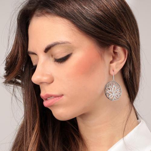Morellato Ženski uhani s kristali Drevo življenja Loto SATD06