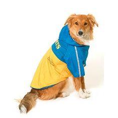 Karlie esőkabát kutyáknak 2 az 1-ben lecsatolható kapucnival 44 cm
