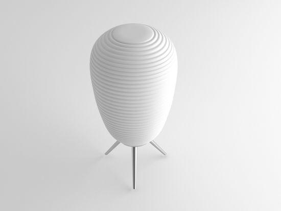 Immax NEO COCONO stolní lampa bílé sklo 24x43cm včetně Smart zdroje E27 RGBW Zigbee 3.0