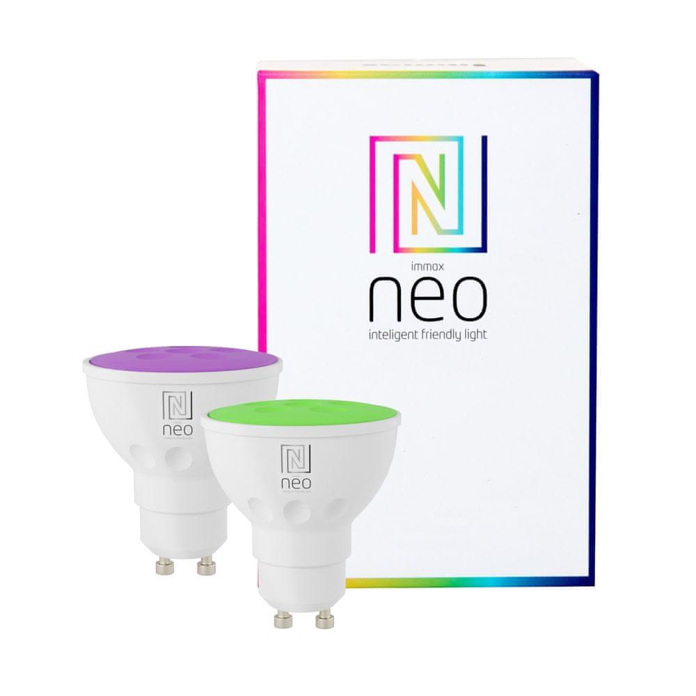 Immax NEO Smart sada 2x žárovka GU10 3,5W barevná, stmívatelná, Zigbee 3.0