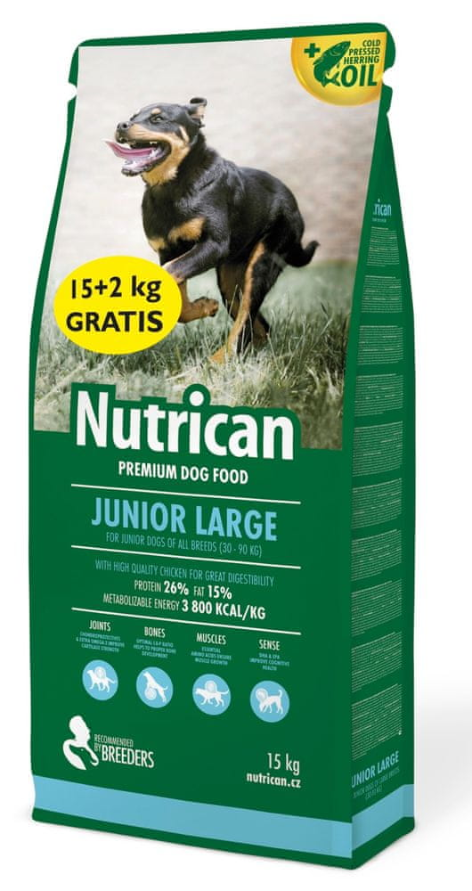 Nutrican Junior Large 15 kg + 2 kg