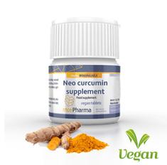 mcePharma Neo curcumin supplement se vstřebatelným kurkuminem a vitaminem D, 60 tablet